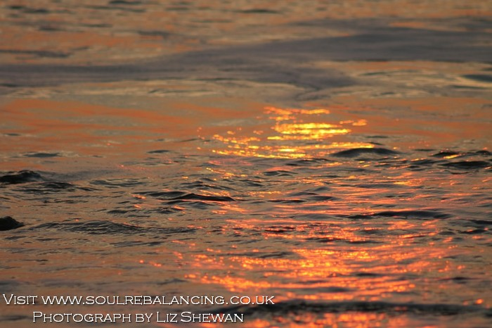 Charmouth November Sunset © Liz Shewan 2014 Soul Rebalancing - Copy