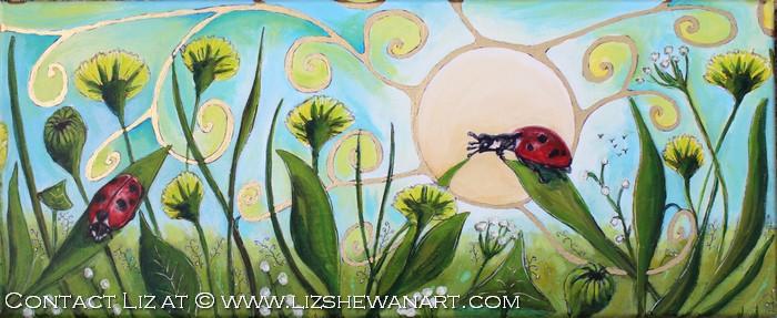 Nature Speaks, Listen Wisdom Series Two Ladybug © Liz Shewan 2018
