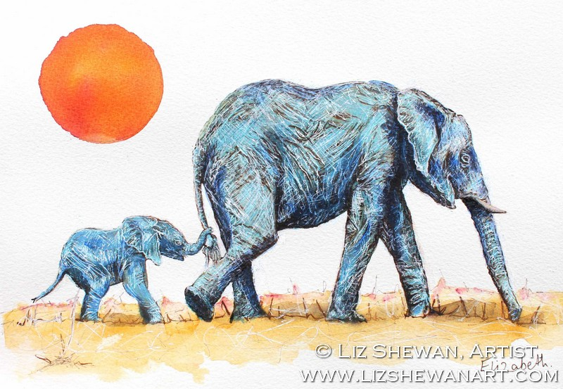 Everyone Loves How I Was Inspired To Paint Blue Elephants